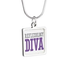 Reflexology DIVA Silver Square Necklace