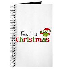 Twins' 1st Christmas Owl Journal