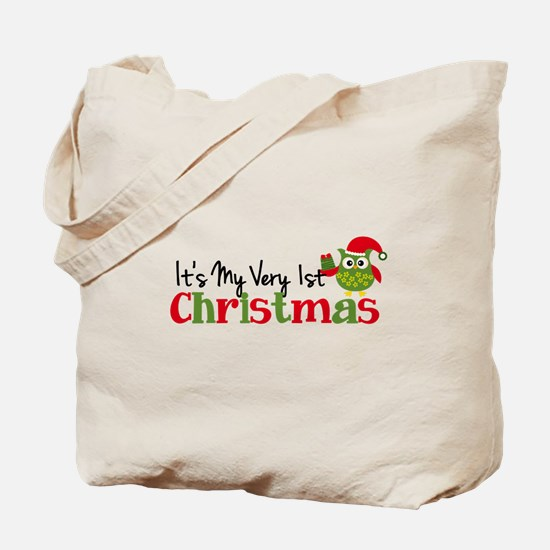 It's My Very 1st Christmas Owl Tote Bag