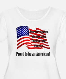 Proud to be an American Plus Size T-Shirt