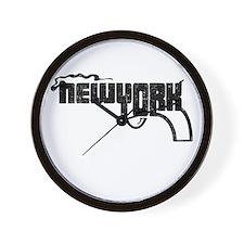 New York Smoking Gun Wall Clock
