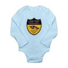 Lead Foot Hot Rod Long Sleeve Infant Bodysuit