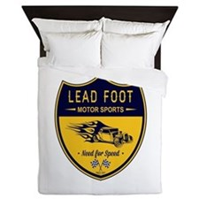 Lead Foot Hot Rod Queen Duvet