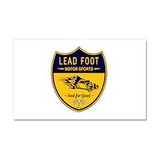 Lead Foot Hot Rod Car Magnet 20 x 12