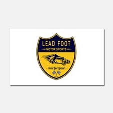 Lead Foot Hot Rod Car Magnet 20 x 12