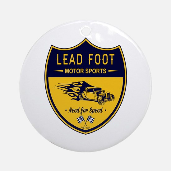 Lead Foot Hot Rod Ornament (Round)
