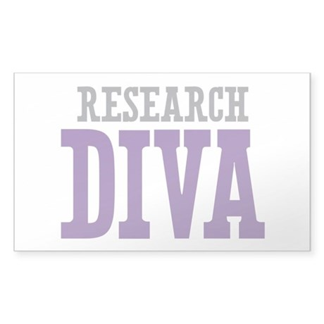 Research DIVA Sticker (Rectangle)