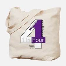 1 in Four the domestic violence project logo Tote
