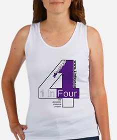 1 in Four the domestic violence project logo Tank