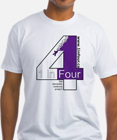 1 in Four the domestic violence project logo T-Shi