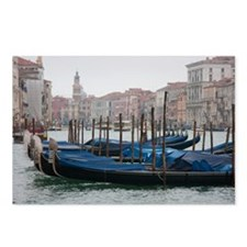 Gondolas parked on the Grand Canal Postcards (Pack