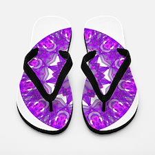 Violet Fire Wheel Flip Flops