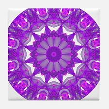 Violet Fire Wheel Tile Coaster