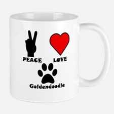Peace Love Goldendoodle Mugs
