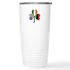 African American Shamrock Travel Mug