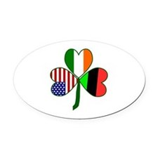 African American Shamrock Oval Car Magnet