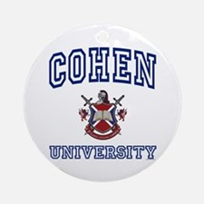 COHEN University Ornament (Round)