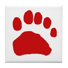 Real Bear Track Tracing Tile Coaster