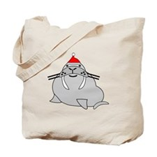 Christmas Walrus Tote Bag