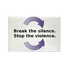 Break the silence Stop the Violence Magnets