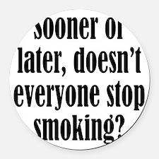 smoking1 Round Car Magnet