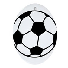 Soccer Ball Ornament (Oval)