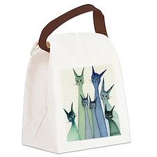 blue green hilo Canvas Lunch Bag