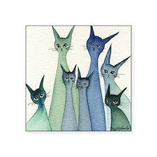 """blue green hilo Square Sticker 3"""" x 3"""""""
