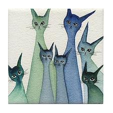 blue green hilo Tile Coaster