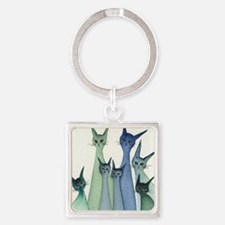 blue green hilo Square Keychain