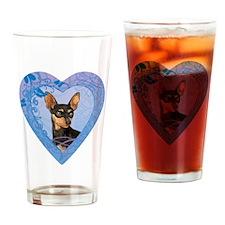 minpin-heart Drinking Glass