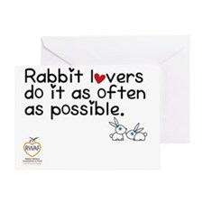 rabbit lovers do it as often as poss Greeting Card