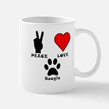 Peace Love Beagle Mugs