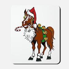 pony wearing santa hat Mousepad