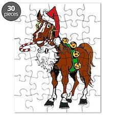 pony wearing santa hat Puzzle