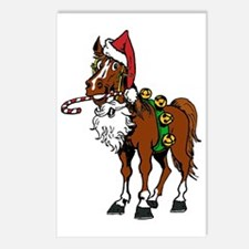 pony wearing santa hat Postcards (Package of 8)