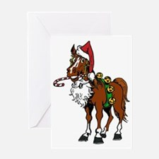 pony wearing santa hat Greeting Card