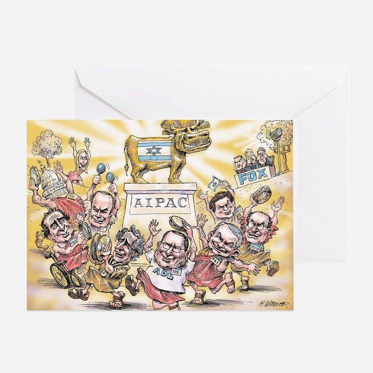 Golden Calf AIPAC Greeting Card