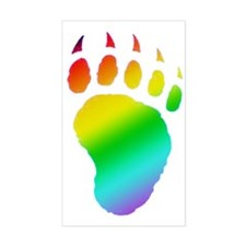 gay pride bear paw Rectangle Decal
