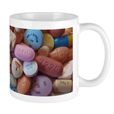 Pile of Pills Small Mugs