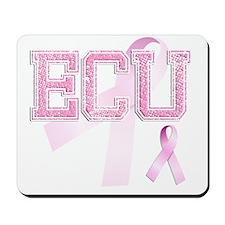 ECU initials, Pink Ribbon, Mousepad