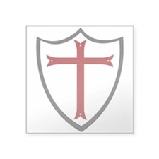 Crusader Shield Square Sticker 3&Quot; X 3&Quot;