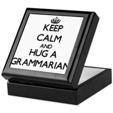 Keep Calm and Hug a Grammarian Keepsake Box