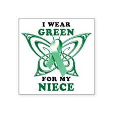 "I Wear Green for my Niece Square Sticker 3"" x 3"""