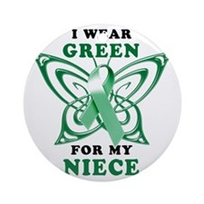 I Wear Green for my Niece Round Ornament