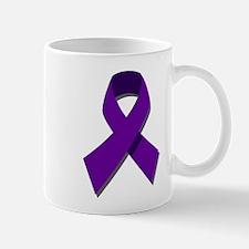 Purple Ribbon Mugs