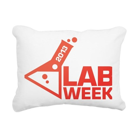 LabWeek 2013 SXS Red Rectangular Canvas Pillow