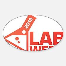 LabWeek 2013 SXS Red Sticker (Oval)