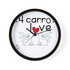24 carrot love Wall Clock