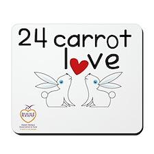 24 carrot love Mousepad